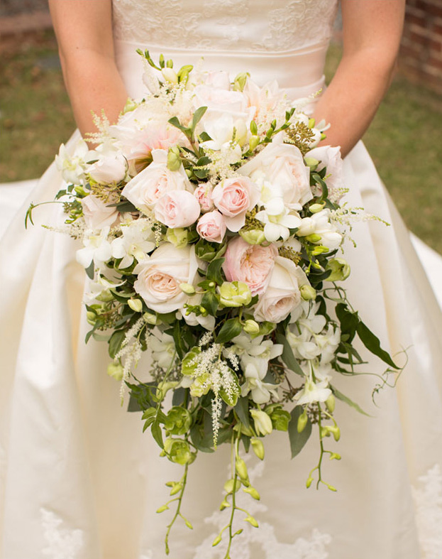 Pink Roses and Greenery
