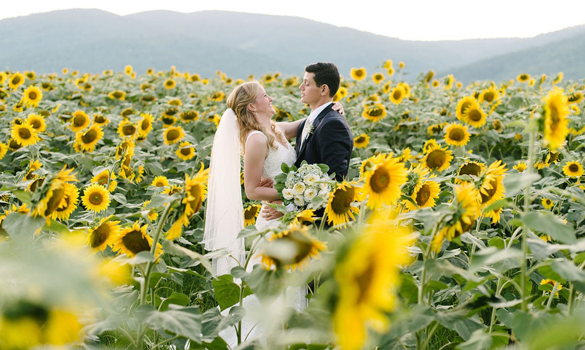 wedding flowers at KFV sunflowers