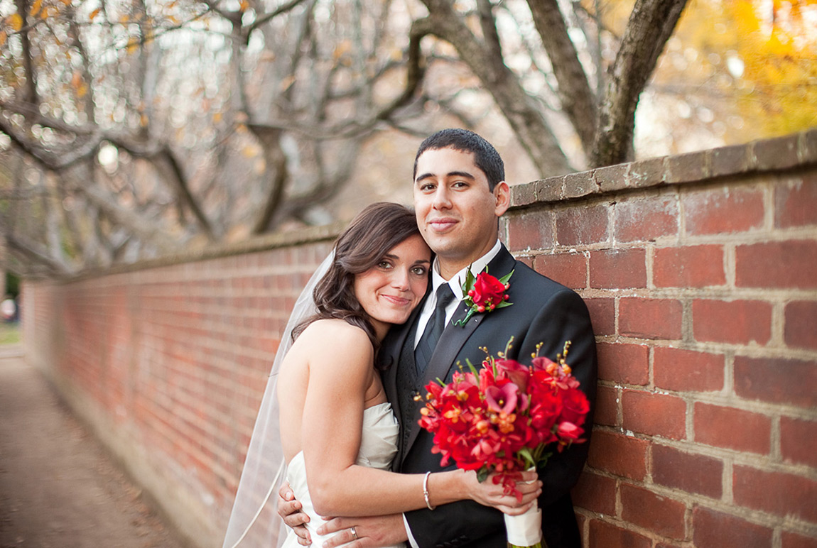 wedding flowers at University of Virginia
