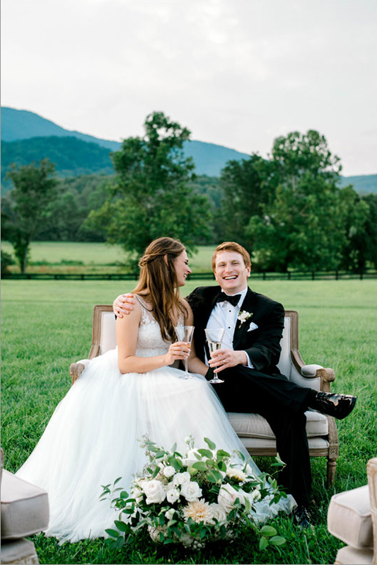 virginia winery wedding couple