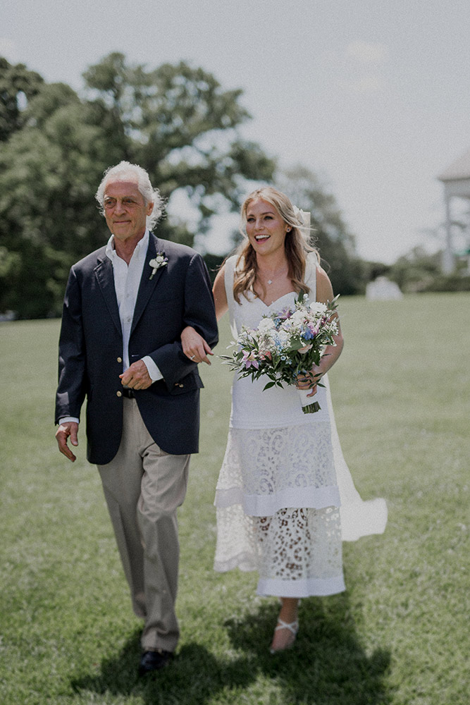bride and father at Farmington