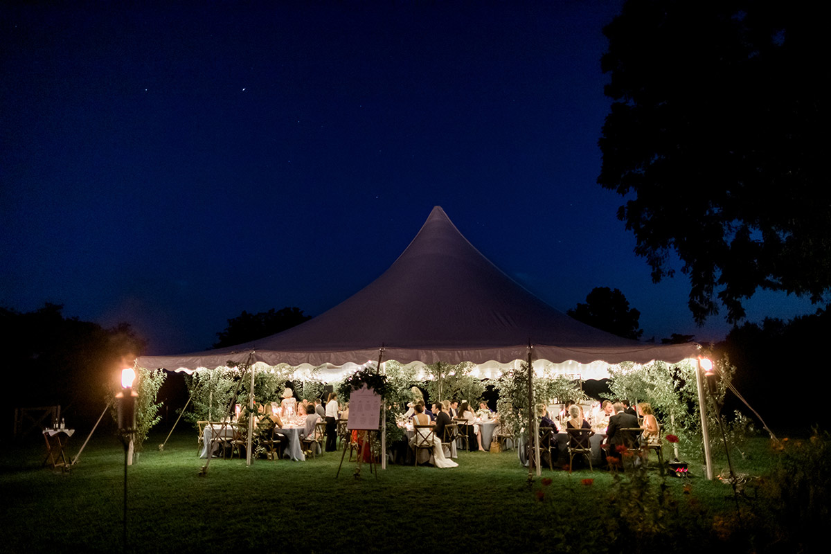tented wedding reception vineyard