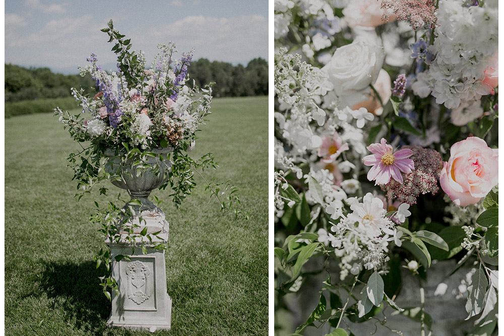 wedding flowers at Farmington