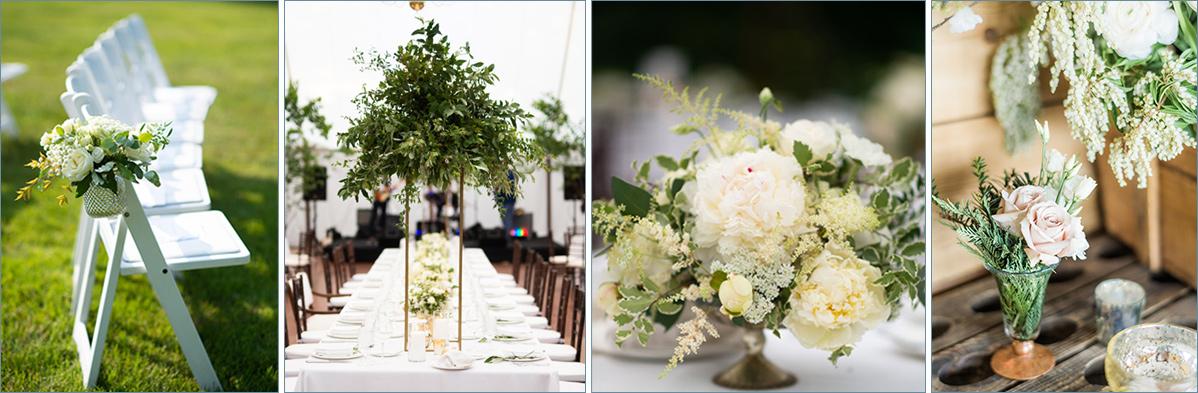 wedding flowers collage