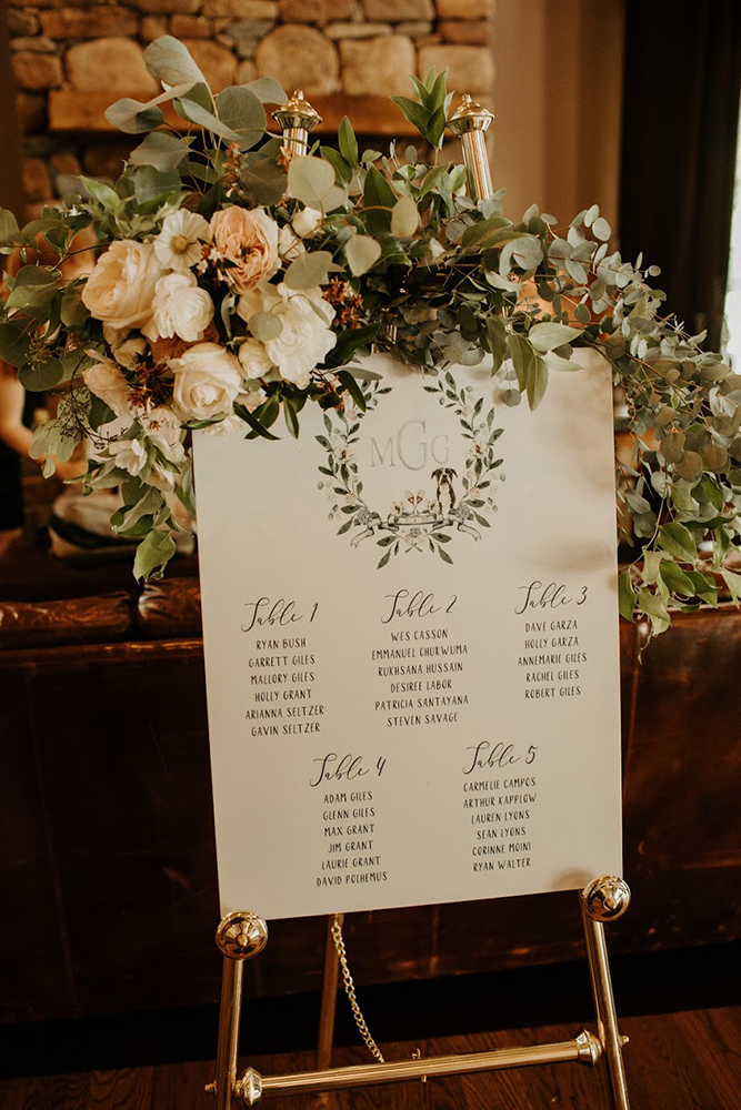 reception-wedding-flowers-guest-list